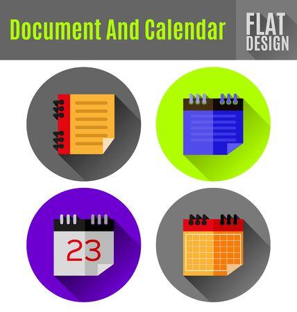 Vectorillustratie van document platte pictogram ontwerp. Stock Illustratie