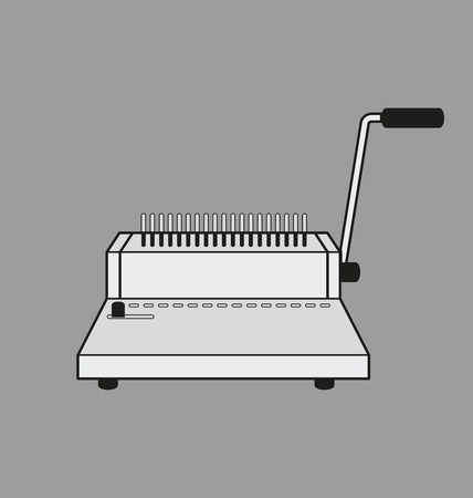 Vector Illustration of binding machine.