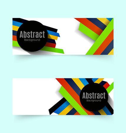 Vector Illustration of  abstract  background.Stripes background banners.
