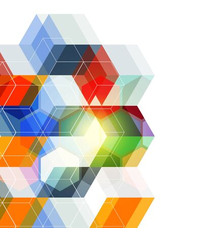Vector Illustration of  abstract  background. Technology polygonal design. Illustration