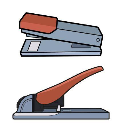 Vector Illustration of  stapler set.