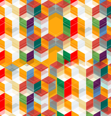Vector Illustration of  abstract hexagon background. Technology polygonal design.