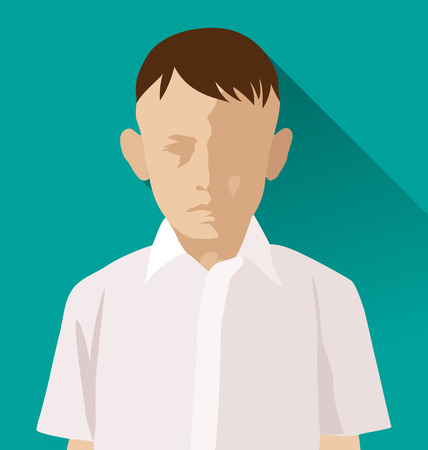 Vector Illustration of  Thai boy avatar. Illustration