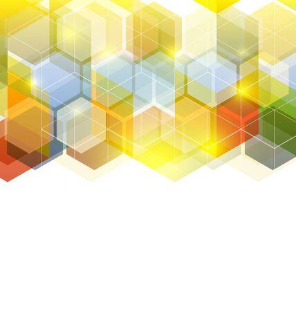 Vector Illustration of  abstract  background. Technology polygonal design. Illustration