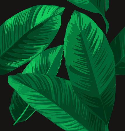 Vector Illustration of seamless leaves pattern
