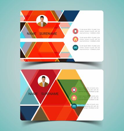 vector illustration of name card template 일러스트