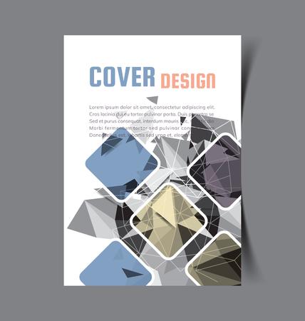 Folleto comercial. Diseño de Flyer. Plantilla de folletos a4. Libro de portada y revista. Ilustración de Vector de informe anual.