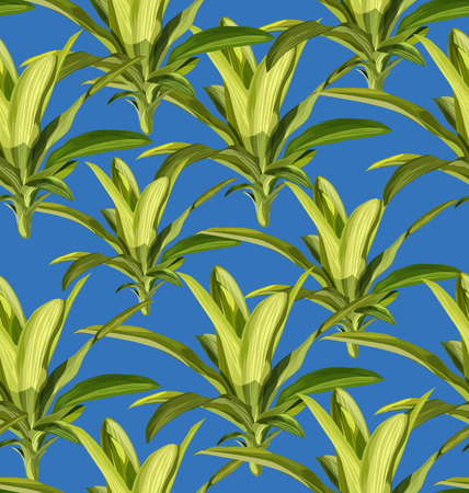 Vector Illustration of tropical plant seamless pattern.