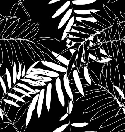 Vector Illustration of leaf seamless pattern