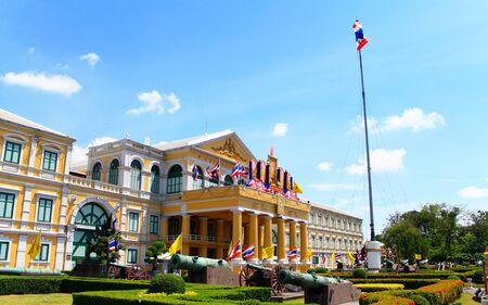 Ministério da Defesa prédio em Bangkok, Tailândia arquitetura antiga Editorial