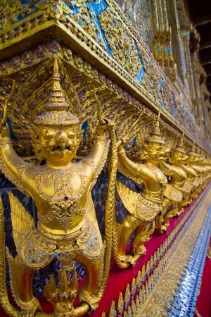 Golden Garudas at Grand Palace, Bangkok photo