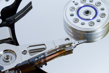 Close up of modern opened hard disk drive Stock Photo - 16465523