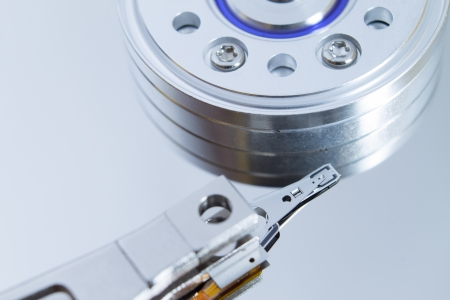 Close up of modern opened hard disk drive Stock Photo - 16465522