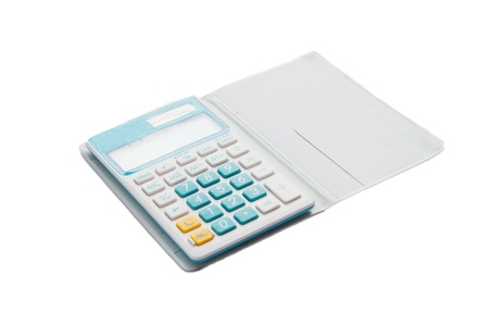 domestic small calculator, green key Stock Photo - 18382515