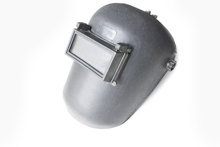 ppe: black plastic protective welding mask helmet