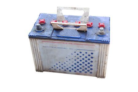 Mucky Dirty Car Battery. With Clipping Path photo