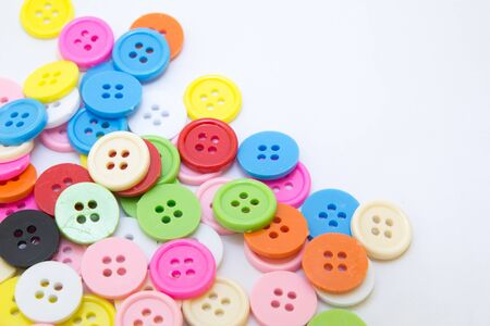 Buttons of various colors. photo