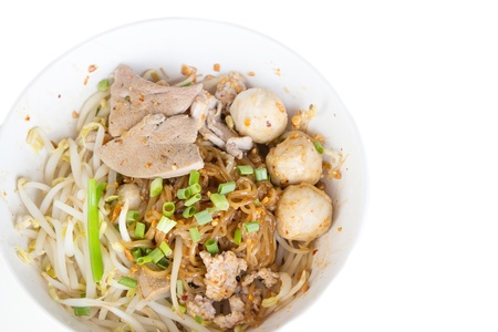 Fine Cut White Rice Noodle, Garlic and oil (dry noodle without soup)