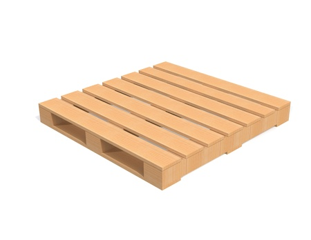 Wooden Shipping Pallet on white background Stock Photo