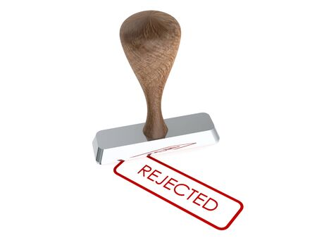 rejected: text  Rejected  rubber stamp on white background Stock Photo