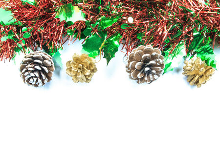 Christmas background with ribbon photo
