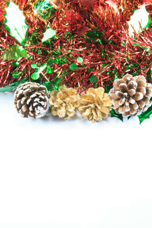 Christmas background with ribbon Stock Photo - 23565667