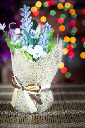 beautify: Christmas flower on lights blurred background