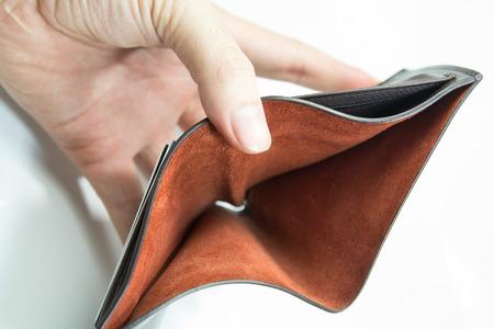 empty wallet: Empty wallet on white
