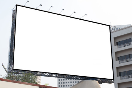 Blank white billboard useful for new advertisement photo