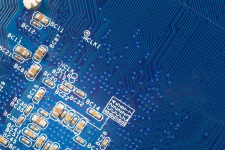 close-up da placa de circuito azul