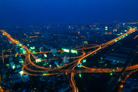 Highway Traffic  Dusk , city scape background photo