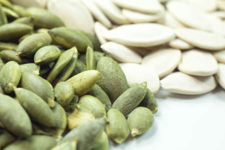 detail of many pumpkin seeds background