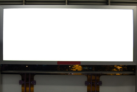 Blank billboard useful for new advertisement photo
