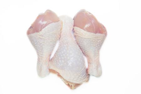 raw Chicken legs isolated