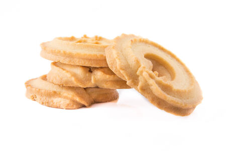 Classic Vanilla Cookies isolated on white background. photo