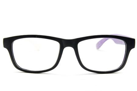 Eyeglasses isolated on white background, accessory object. 스톡 콘텐츠