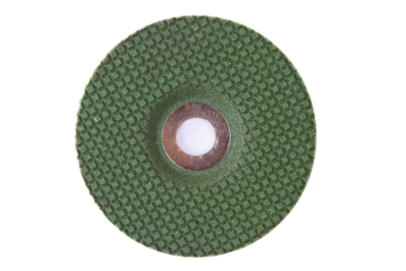 Abrasive disks for metal grinding, cutting on white background photo