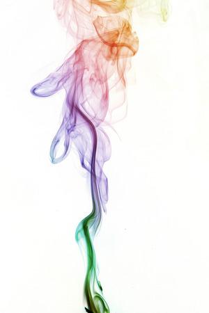 joss:  abstract background, colorful smoke of Joss stick
