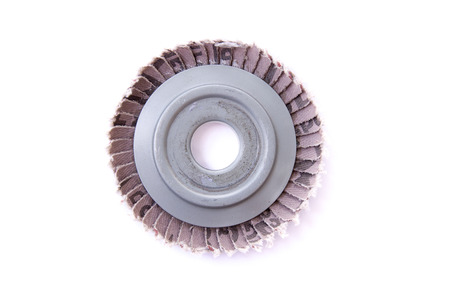 Abrasive disks for metal grinding, cutting on white background