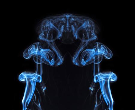 joss: abstract background, colorful smoke of Joss stick Stock Photo