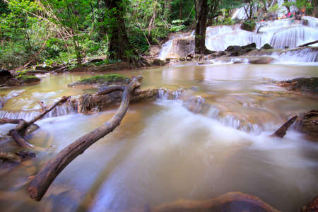 Deep forest waterfall at Phatad waterfall National Park Kanchanaburi Thailand photo