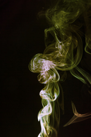 abstract background, colorful smoke of Joss stick Imagens