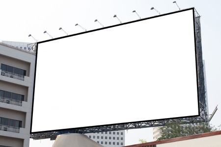 Blank white billboard useful for new advertisement