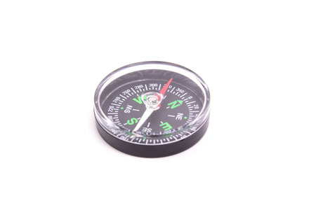 azimuth: A black Compass isolate on white background Stock Photo