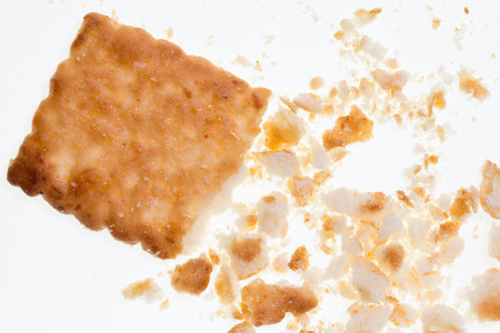 cikolatali: Crumbs of Biscuit Texture Closeup Details Isolated On White