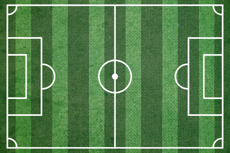 realism: Green soccer or football field top view Stock Photo