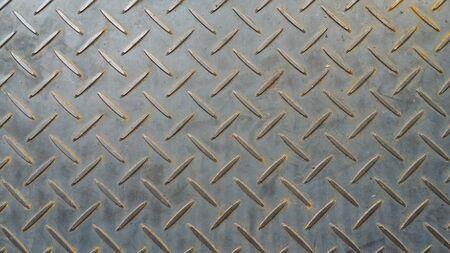 Checker plate piso superficie textura acero agarre rejilla metálica