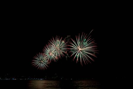 Fireworks light up the sky with dazzling display 스톡 콘텐츠 - 137408345