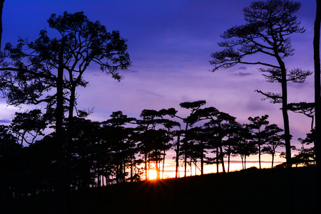 soi: Sunset in the mountains at Phu Soi Dao, Uttaradit, Thailand.