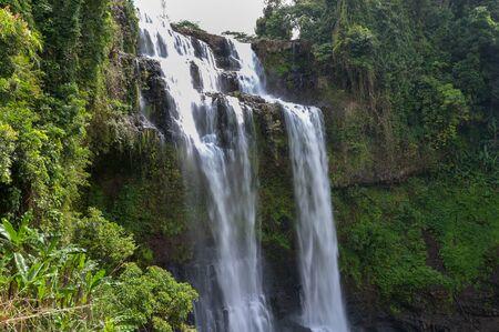 Tad yuang fall , A big waterfall in Jam Pha Sak,Bolaven, Laos.